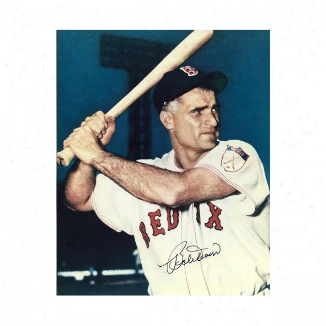 Bobby Doerr Autographed Boston Red Sox 8x10 Photl Hall Of Famer