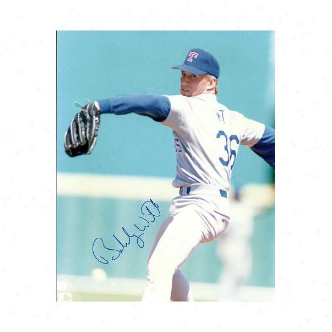 Bobby Witt Autographed Texas Rangers 8x10 Photo