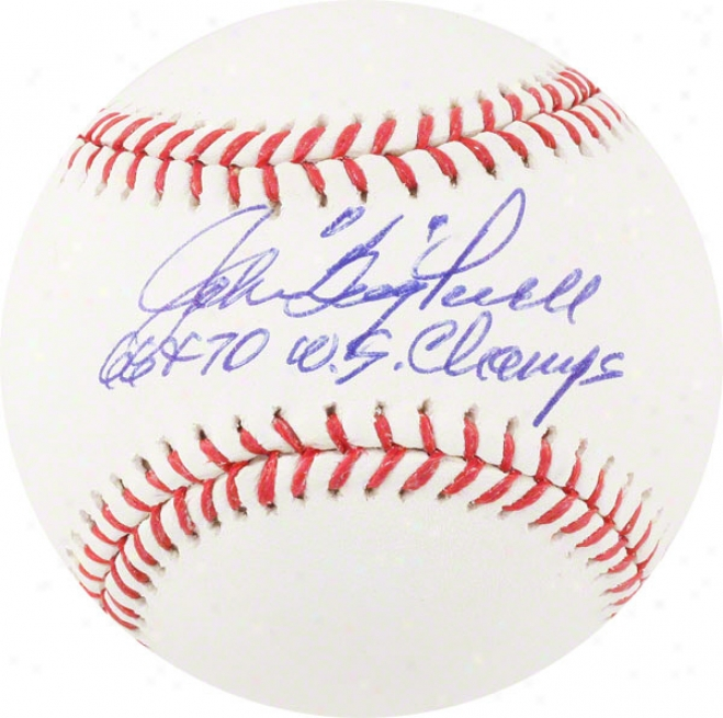 Boog Powell Autographed Baseball  Details: 66,70 Ws Champs Inscription