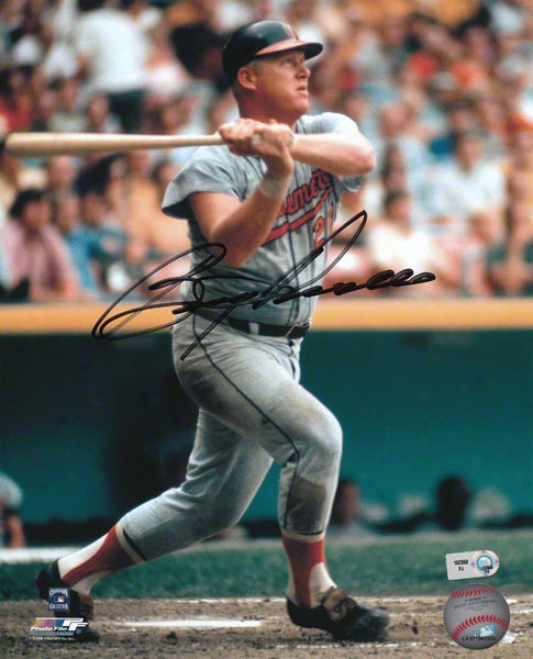 Boog Powell Baltimore Oruoles - Swinging - Autographed 8x10 Photograph