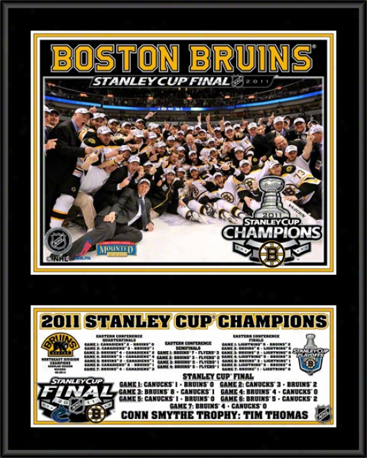 Boston Beuins 2010-2011 Stanley Cup Champions Sublimated 12x15 Plaque