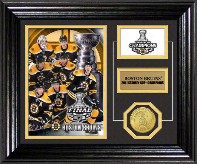 Boston Bruins 2011 Nhl Stanley Cup Chqmpions Desk Chief Photo Mint