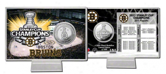 Boston Bruins 2011 Nhl Stanley Cup Champions Silver Coin Card