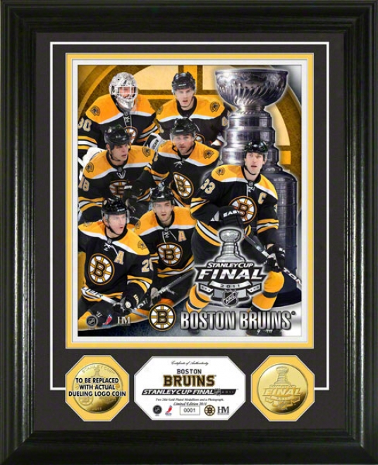 Boston Bruins 2011 Stanley Cup Final 24kt Gold Coin Photo Mint