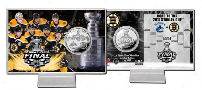 Boston Bruins 2011 Stanley Lot Final Silver Coin Card