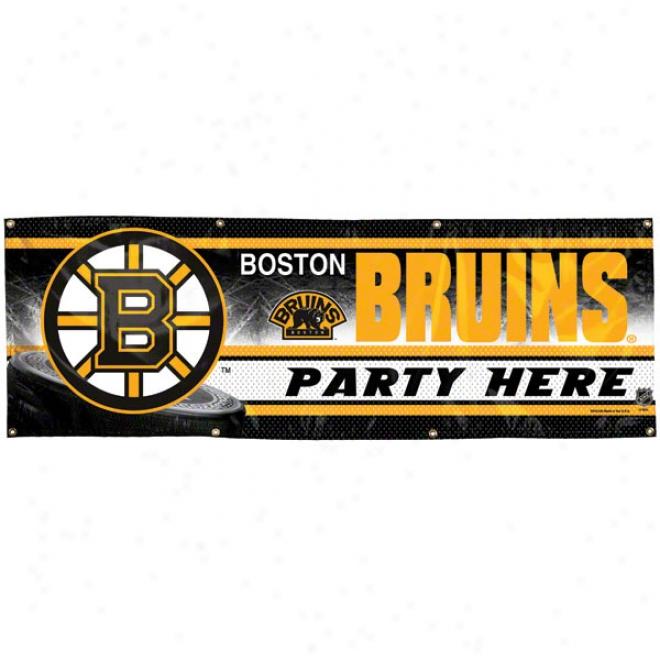 Boston Bruins 2x6 Vinyl Banner