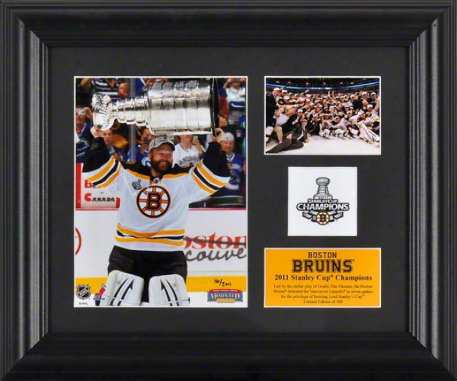 Boston Bruins Framed 2-photograph 2010-2011 Stanley Cup Champions Collage