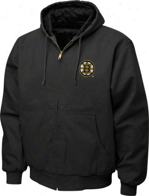 Boston Bruins Jacket: Black Reebok Cumberland Jerkin
