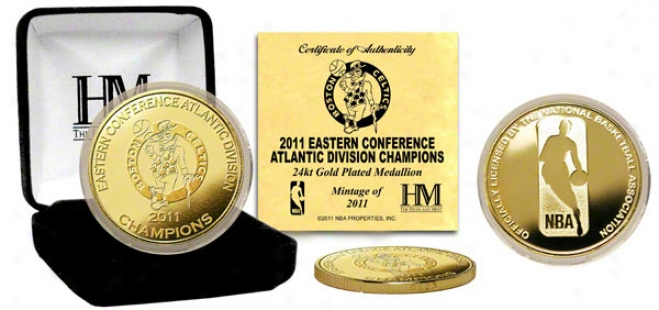 Boston Celtics 2011 Division Champs 24kt Gold Coin