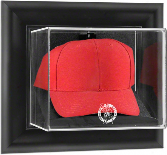 Boston Celtics Framed Wall Mounted Logo Cap Display Case