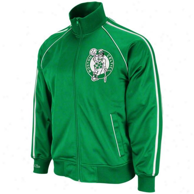 Boston Celtics Mitchell & Ness Final Scire Footprint Jacket