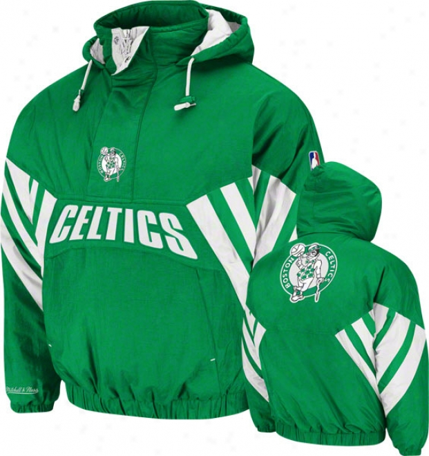 Boston Celtics Mitchell & Ness Vintage Flashback Pulloger Jacket