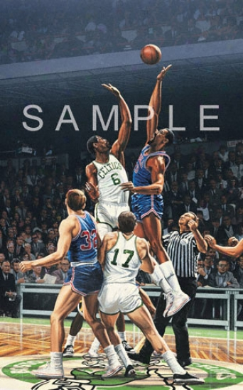 Boston Celtics/philadelphia 76ers &quotjumpball&quot Lithograph