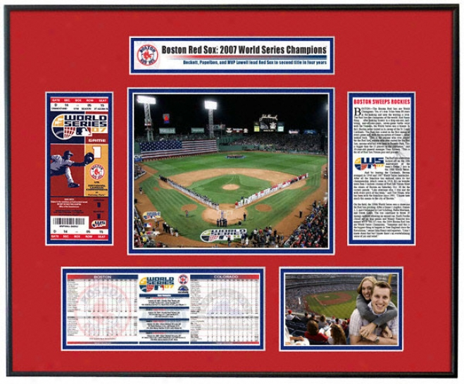 Boston Red Sox 2007 World Series Champs - Game 1 Opening Rite - Ticket Frame