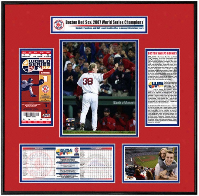 Boston Red Sox 2007 World Series Champs - Game 2 Winner Curt Schilling - Ticket Invent
