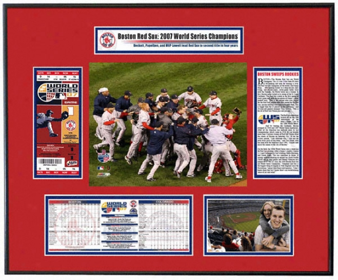 Boston Red Sox 2007 World Series - Team Commemoration - Ticket Frame