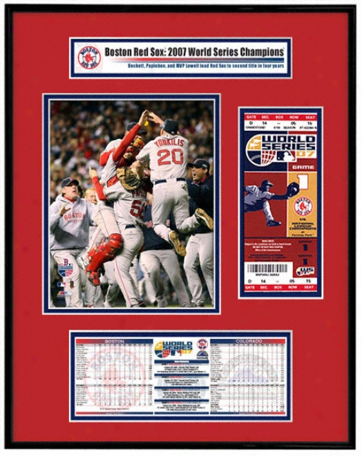 Bostob Red Sox 2007 World Series - Team Celebration - Ticket Frame Jr.