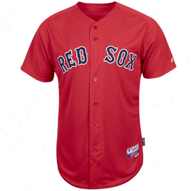 Boston Red Sox Alternate Scarlet Authentic Cool Baseã¢â�žâ¢ On-field Mlb Jersey