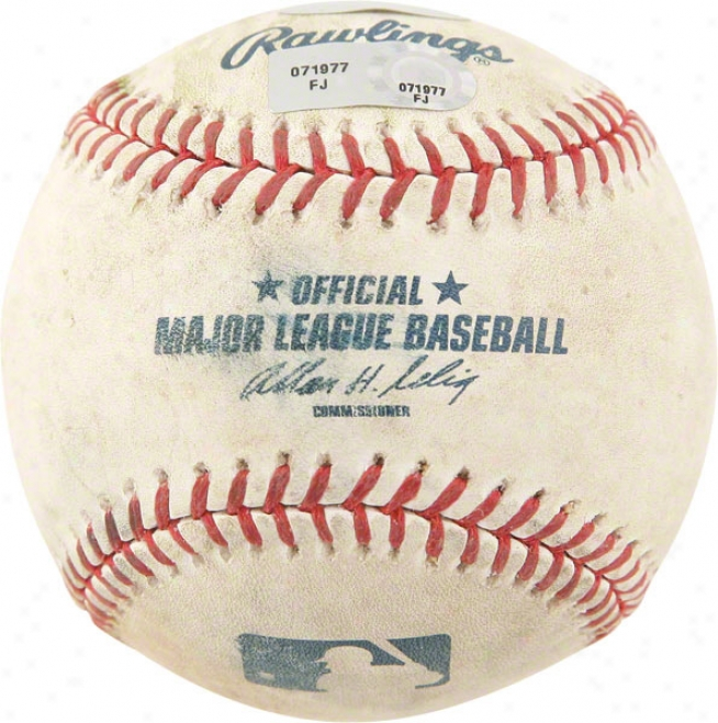 Boston Red Sox American League Championship Series Game 4 Game Vs. Indians Unsigned Used Baesball
