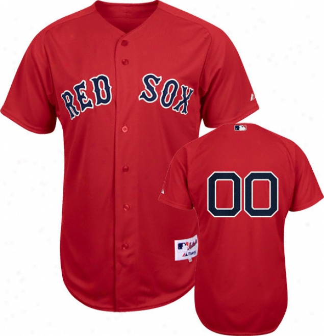 Boston Red Sox - Any Number - Authentic Cool Baseã¢â�žâ¢ Alternate Red On-field Jersey
