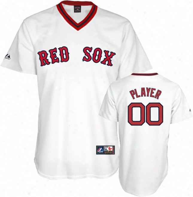 Boqton Red Sox Cooperstown White -any Mimic- Replica Jersey