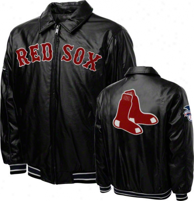 Boston Red Sox Faux Leather Full-zip Varsity Jacket