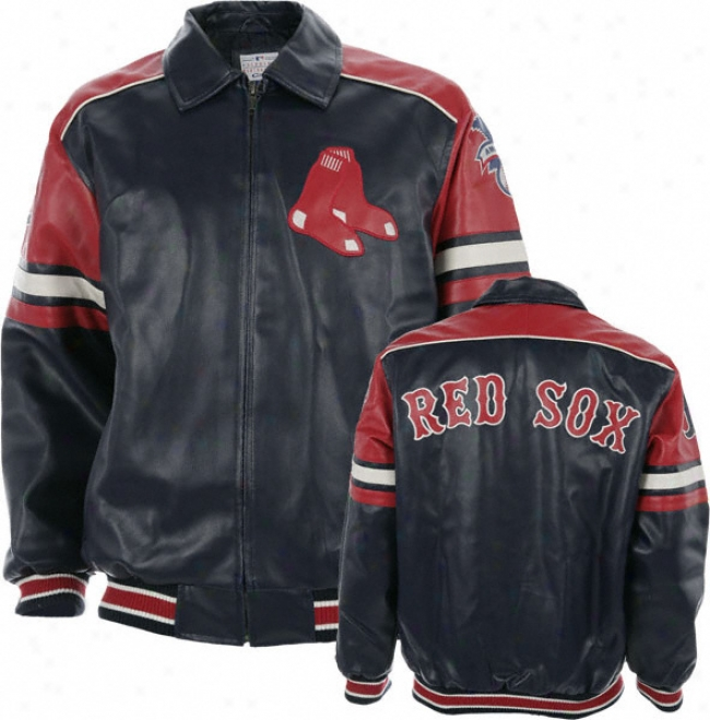 Boston Red Sox Faux Leather Jacket