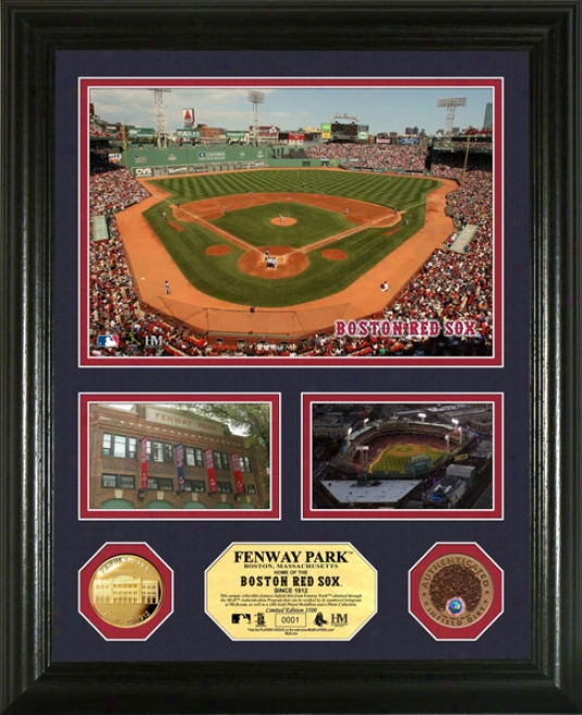 Boston Red Sox Fenway Park Coin With Authentic Infield Dirt Photo Mint