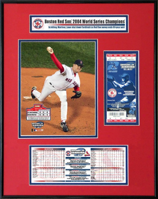 Boston Red Sox - Game 2 Curt Schilling - 200 4World Series Ticket Frame Jr.