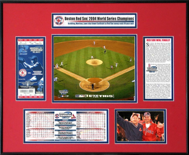 Boston Red Sox - Game 4 Final Play - 2004 World Series Ticket Frame