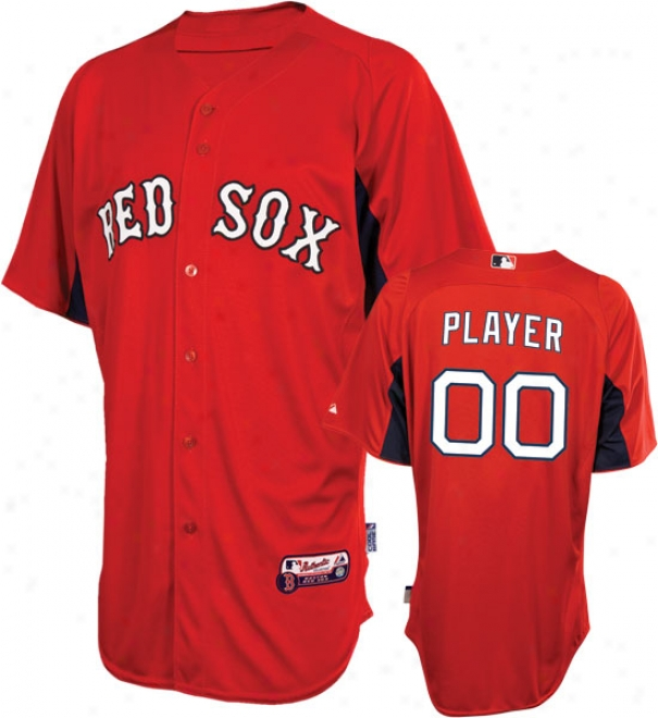 Boston Red Sox Jersey: Personalized Authentic Scarlet On-field Batting Practice Jersey