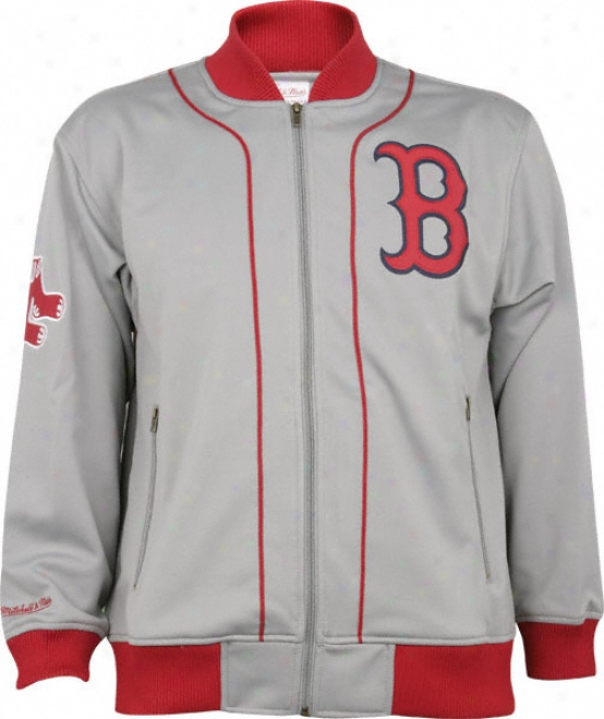 Boston Red Sox Mitchell & Ness Sportsman's Track Jacket