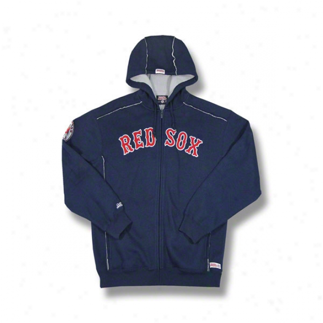 Boston Red Sox Nwvy Grand Slam Full-zip Sherpa Lined Thermal Hooded Jacket