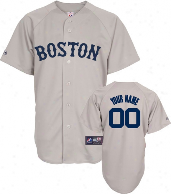 Boston Red Sox -personalized With Your Name- Road Mlb Replica Jersey
