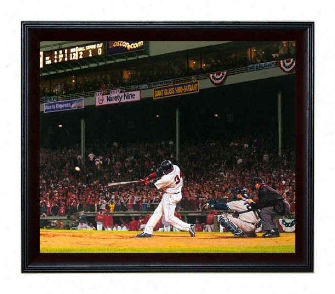 Boston Red Sox - &quotpapi Pops The Yanks&quot - Large - Framed Giclee