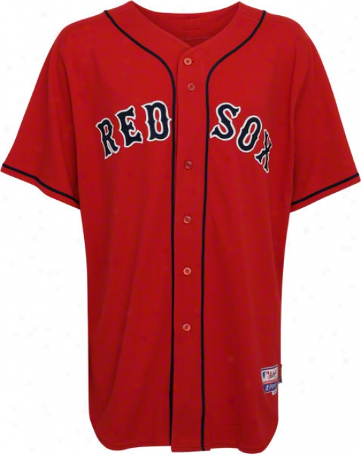 Bostom Red Sox Red Away Authentic On-field Cool Base Jersey
