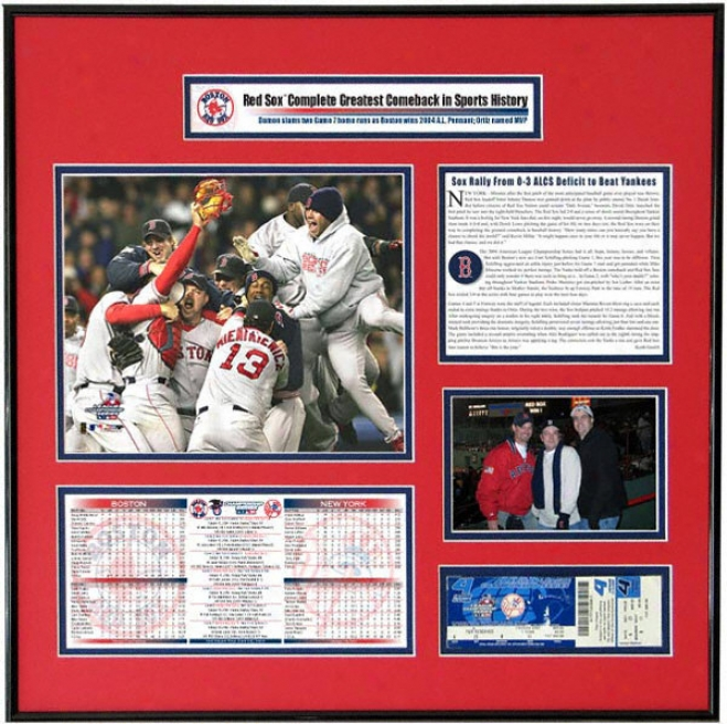 B0ston Red Sox - Team Celebration - 2004 American Leagie Champions Ticket Frame