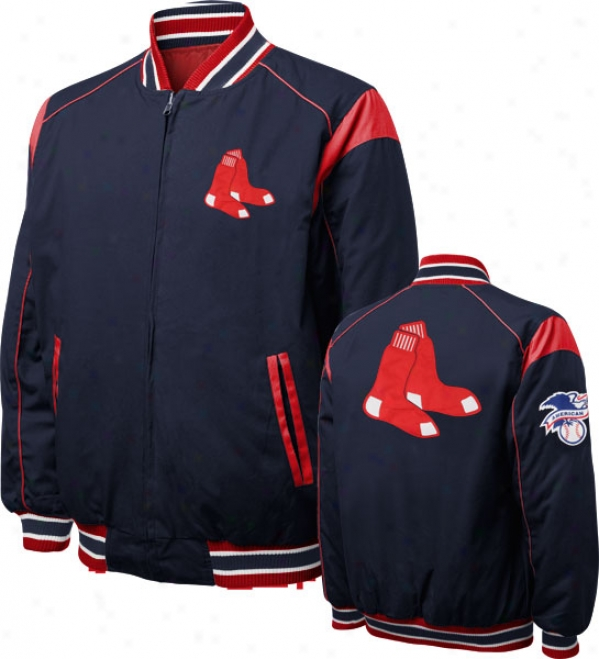 Boston Red Sox Turn Back The Clock Full-zip Reversiboe Jacket