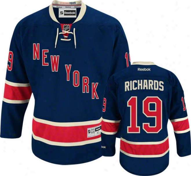 Brad Richards Jersey: Reebok Alternate #19 Recent York Rangers Premier Jersey