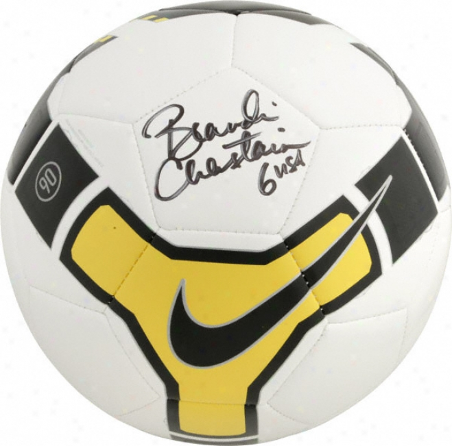 Brandi Chastain Autographed Soccerball