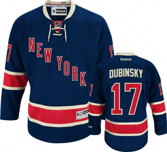 Brandon Dubinsky Jersey: Reebok Reciprocate #17 New York Rangers Premier Jersey