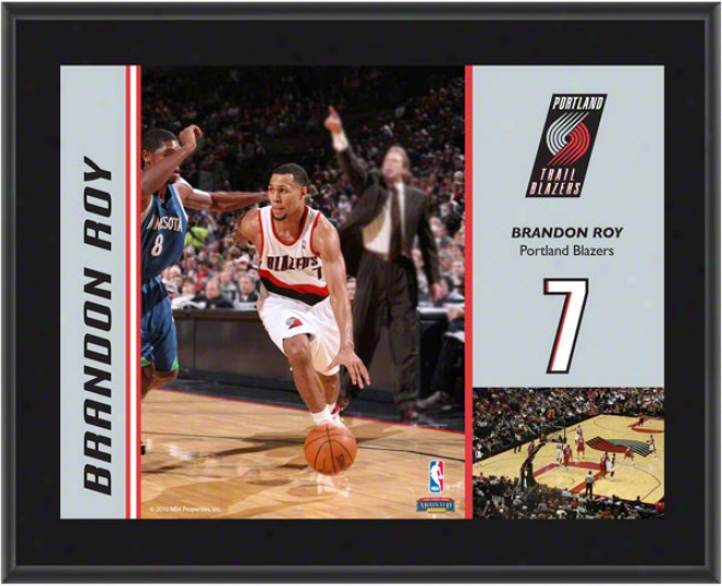 Brandon Roy Plaque  Details: Portland Trail Blazers, Sublimated, 10x13,_Nba Plaque