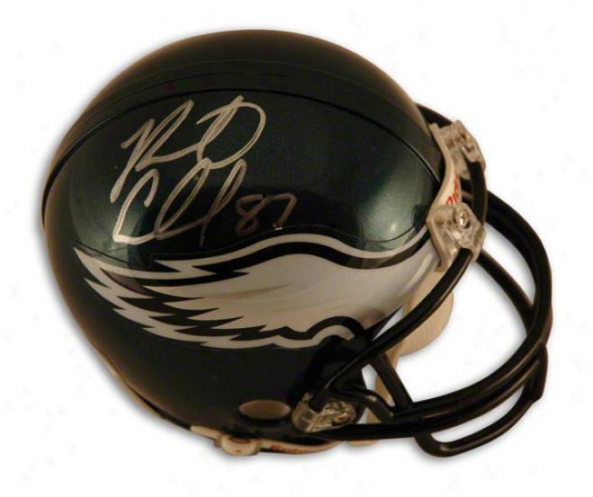 Brent Celek Autographed Philadelphia Eagles Mini Helmet