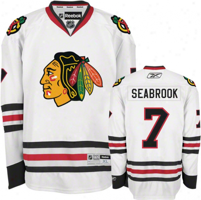 Brent Seabrook Jersey: Reebok White #7 Chicago Blackhawks Premier Jersey