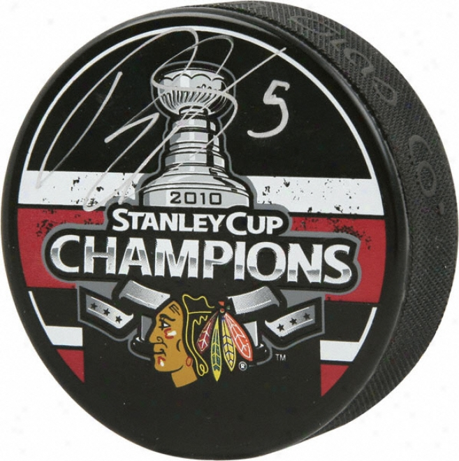 Brant Sopel Chicago Blackhawks Autographed 2010 Stanley Cup Champions Puck