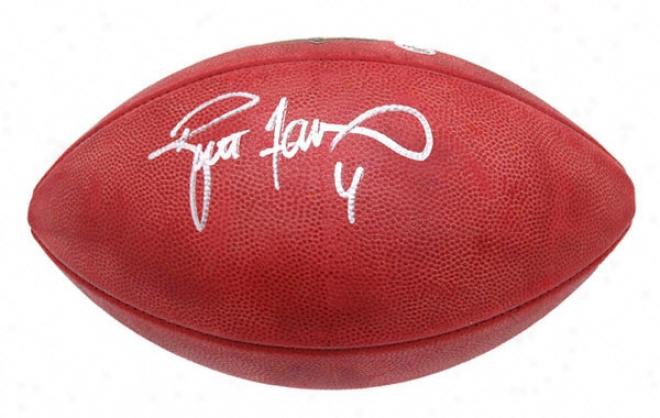 Brett Favre Autographed Football  Details: Duke Football