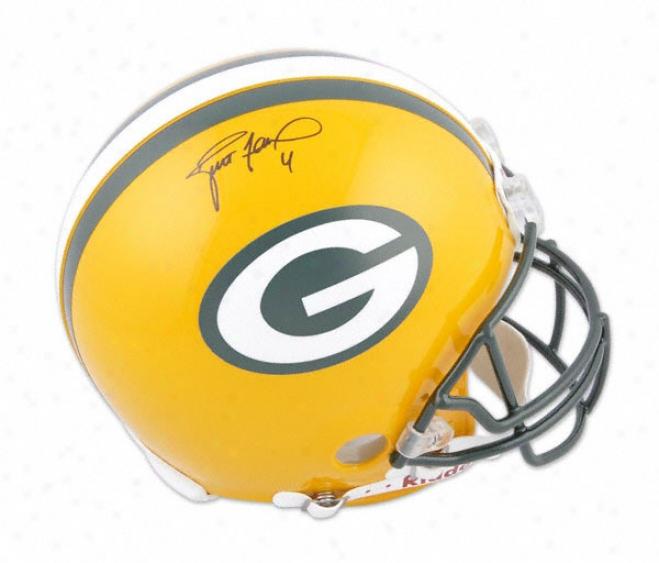Brett Favre Autographed Pro-line Helmet  Details: Green Bay Packers, Authentic Riddell Helmet