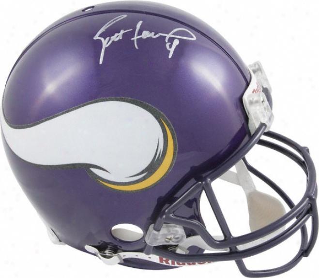 Brett Favre Autographed Pro-line Helmet  Details: Minnesota Vikings, Authentic Riddell Helmet