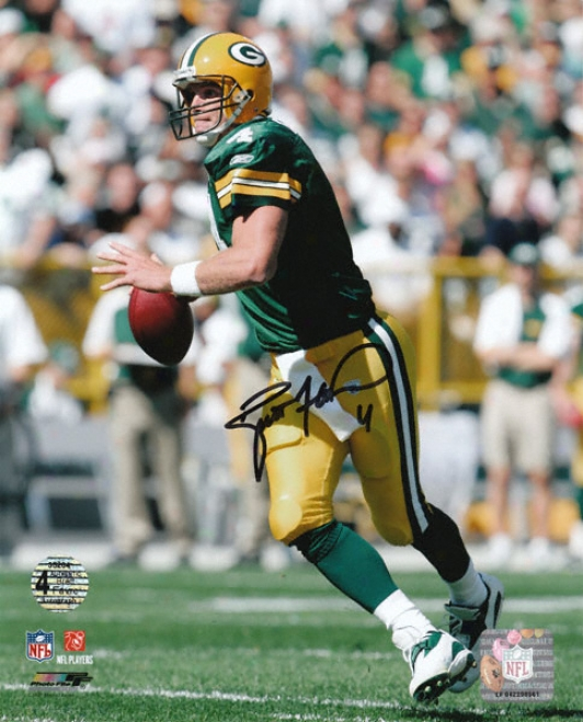 Brett Favre Green Bay Packers -roll Out - Autographed 8x10 Photograph