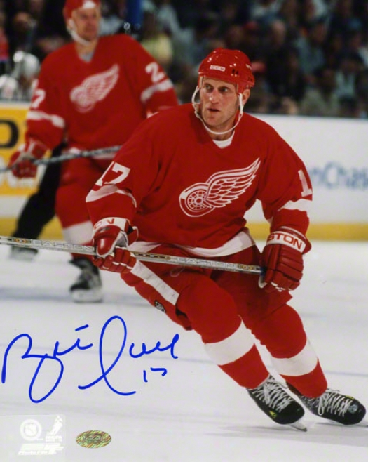 Brett Hull Detroit Red Wings Autographed 8x10 Photograph